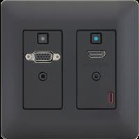 Aurora - DXW-2- Black - 2 input HDBaseT™ transmitter
