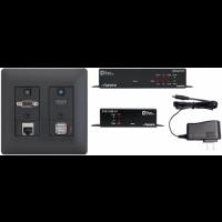 Aurora - DXW-2EUH-S2- Black - 2 input HDBaseT™ transmitter set