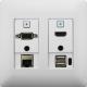 Aurora - DXW-2EU-W - 2 input HDBaseT™ transmitter wall plate