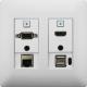 Aurora - DXW-2EUH-W - 2 input HDBaseT transmitter wall plate
