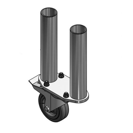 Eurotruss - Round leg - 80cm - 2x with castor & brake