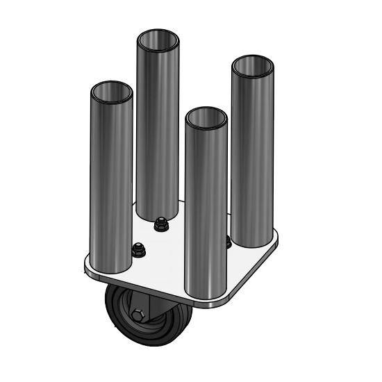 Eurotruss - Round leg - 20cm - 4x with castor